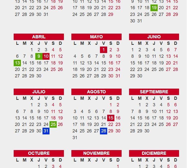 Calendario laboral 2020 BizkaiaAún no hay votaciones.