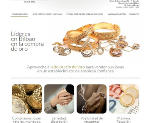 Oro Luyma. Compro oro Bilbao