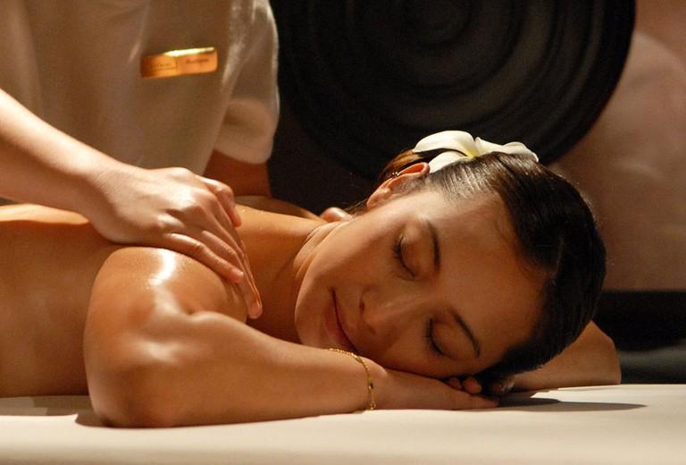 masaje en un spa